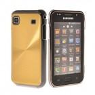 Plastikinis auksinis Samsung Galaxy S i9000 dėklas (dėkliukas)