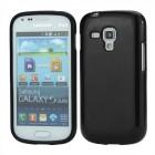 Juodas silikoninis TPU Samsung Galaxy S Duos S7562 (Samsung Galaxy Trend S7560 ) dėklas (dėkliukas)