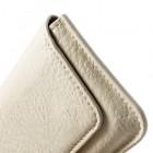 Smėlio spalvos odinė įmautė (Samsung Galaxy S5, HTC One M8, Sony Xperia Z2 ir kt.)