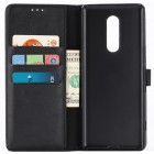 Sony Xperia 1 (XZ4) atverčiamas juodas odinis retro dėklas - piniginė