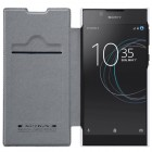 """Prabangus """"Nillkin"""" Qin serijos baltas odinis atverčiamas Sony Xperia L1 (G3311, G3312, G3313) dėklas"""