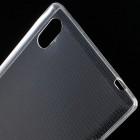 Sony Xperia T3 skaidrus (permatomas) kieto silikono TPU ploniausias pasaulyje dėklas