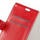 Sony Xperia XZ1 Compact atverčiamas raudonas odinis dėklas, knygutė - piniginė