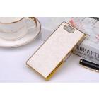 Sony Xperia Z3 Compact (D5803, M55w) elegantiškas korėtas baltas raštuotas dėklas su auksiniais apvadais