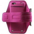 """""""Bubble"""" dėklas sportui (raištis ant rankos) - tamsiai rožinis, universalus (XL dydis)"""