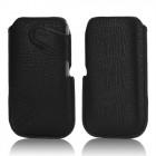 Stilinga universali juoda odinė įmautė - dėklas (L dydis)