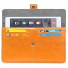 Universali oranžinė odinė kompiuterinės planšetės įmautė, vokas, 8 colių planšetėms