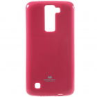 LG K8 tamsiai rožinis Mercury kieto silikono (TPU) dėklas - nugarėlė
