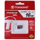 """""""Transcend"""" Premium 400x MicroSD atminties kortelė 16 Gb, 10 Klasė"""