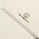 Universali balta (smėlio spalvos) odinė kompiuterinės planšetės įmautė, vokas, 10.1 colių planšetėms