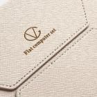 Universali balta (smėlio spalvos) odinė kompiuterinės planšetės įmautė, vokas, 7 colių planšetėms