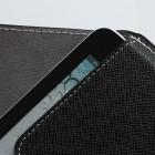 Universali juoda odinė kompiuterinės planšetės įmautė, vokas, 7 colių planšetėms