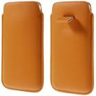 Universali oranžinė odinė įmautė - dėklas (XL dydis)