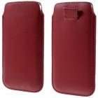 Universali raudona odinė įmautė - dėklas (XL dydis)