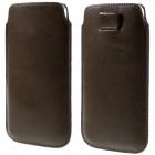 Universali ruda odinė įmautė - dėklas (XL dydis)