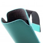 Universali šviesiai mėlyna odinė įmautė - dėklas (XL dydis)