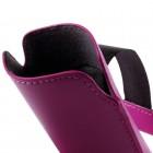 Universali tamsiai rožinė odinė įmautė - dėklas (L+ dydis)