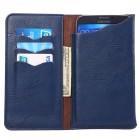 Atverčiama mėlyna odinė universali įmautė - piniginė (L+ dydis)