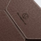 Universali tamsiai ruda odinė kompiuterinės planšetės įmautė, vokas, 7 colių planšetėms