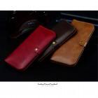 """Solidi """"JLW"""" raudona odinė universali įmautė - piniginė (L dydis)"""