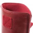 """Apple iPhone 8 Plus """"Vintage"""" universali raudona odinė įmautė su vieta kortelėms susidėti  (XL+ dydis)"""