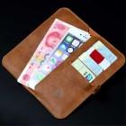 """Solidi """"JLW"""" tamsiai ruda odinė universali įmautė - piniginė (XL dydis)"""