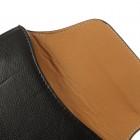 Universali juoda odinė telefono įmautė prie diržo (L+ dydis)