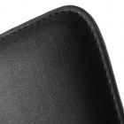 Universali juoda odinė įmautė - dėklas (L+ dydis)