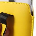 Universali geltona odinė įmautė - dėklas (L+ dydis)