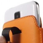 Universali oranžinė odinė įmautė - dėklas (L+ dydis)
