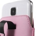 Universali šviesiai rožinė odinė įmautė - dėklas (L dydis)