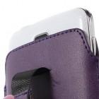 Universali tamsiai violetinė odinė įmautė - dėklas (L+ dydis)