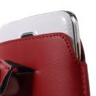 Universali raudona odinė įmautė - dėklas (L+ dydis)