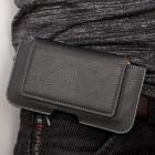"""Apple iPhone 6 Plus """"Slim"""" universali juoda odinė įmautė prie (ant) diržo (XL+ dydis)"""