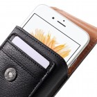 Apple iPhone 8 Plus Universalus dėklas prie diržo, vertikalus, juodas (XL+ dydis)