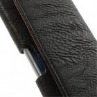 Universali juodas odinis dėklas prie diržo (M dydis)