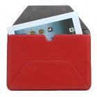 Universali raudona odinė kompiuterinės planšetės įmautė, vokas, 10.1 colių planšetėms