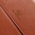 Universali oranžinė (šviesiai ruda) odinė kompiuterinės planšetės įmautė, vokas, 10.1 colių planšetėms