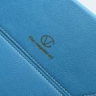 Universali mėlyna odinė kompiuterinės planšetės įmautė, vokas, 10.1 colių planšetėms