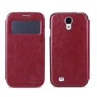 """""""Nillkin"""" Easy raudonas odinis atverčiamas Samsung Galaxy S4 i9505, i9500 dėklas (knygutė)"""