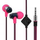 """""""Wallytech"""" rožinės įkišamos į ausis ausinės"""