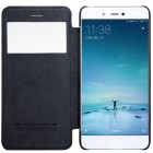 """Prabangus """"Nillkin"""" Qin serijos juodas odinis atverčiamas Xiaomi Mi 5S dėklas - knygutė"""
