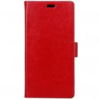 Xiaomi Redmi 4X  atverčiamas raudonas odinis dėklas, knygutė - piniginė