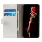 Xiaomi Redmi 7A atverčiamas baltas odinis dėklas, knygutė - piniginė