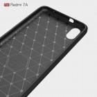 """Xiaomi Redmi 7A """"Carbon"""" kieto silikono TPU juodas dėklas - nugarėlė"""