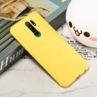 Xiaomi Redmi 9 Shell kieto silikono TPU geltonas dėklas - nugarėlė