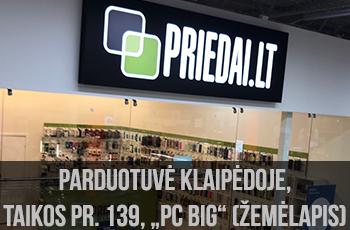 Klaipėdos parduotuvės žemėlapis