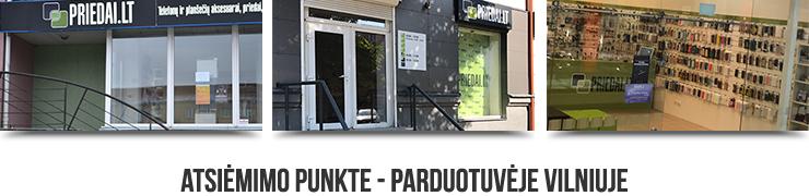 Atsiėmimas parduotuvėje - atsiėmimo punkte Vilniuje