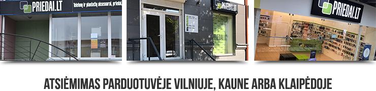 Atsiėmimas parduotuvėse Vilniuje, Kaune arba Klaipėdoje