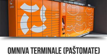 Omniva siuntų terminalas - paštomatas